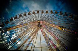 Paris Ferris Wheel goes aroound