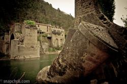 Fallen Bridge and castle