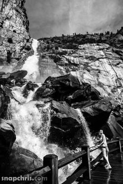 Wapama Falls in B&W
