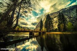 Swinging Bridge Reflection
