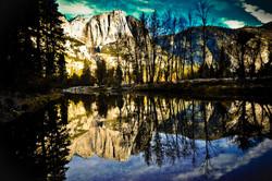 Yosemite Falls Reflections