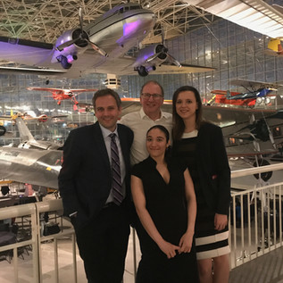 Piotr, Angie, Natalia- Party in the Museum of Aviation