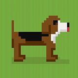 Pixlated dog graphic