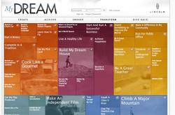 Lincoln Dreams website