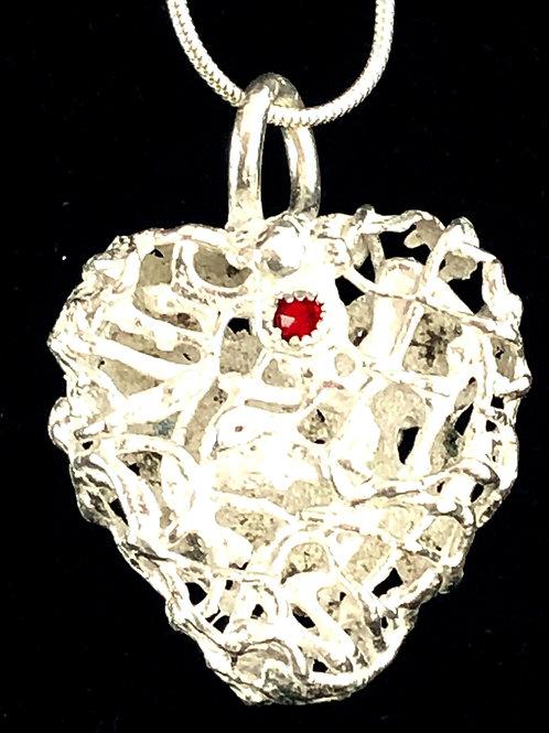 Silver Bramble Heart 2