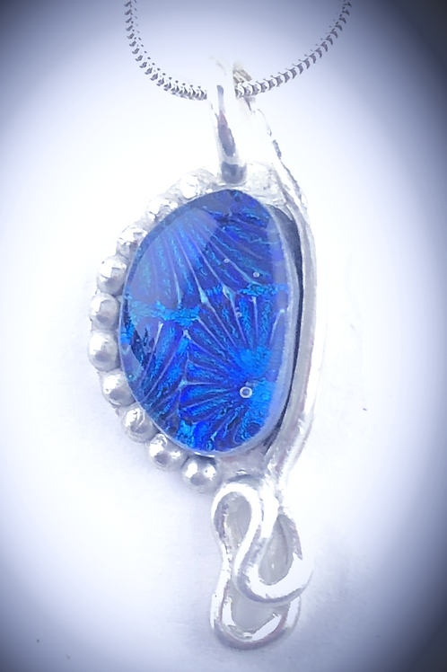 Blue Fan Pendant