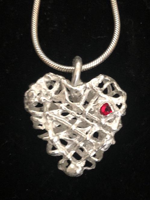 Silver Bramble Heart