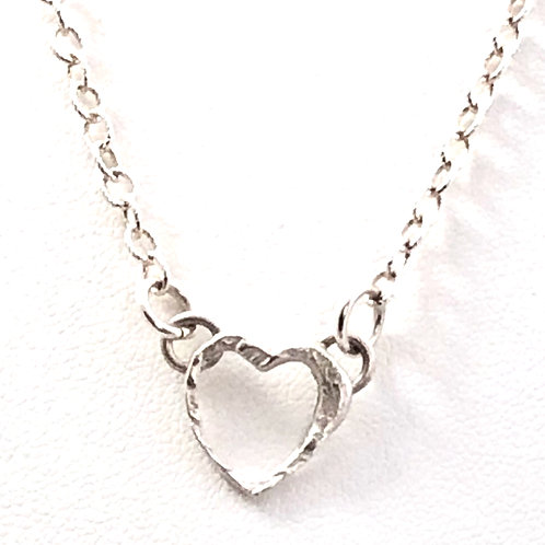 Dainty Hollow Heart Pendant