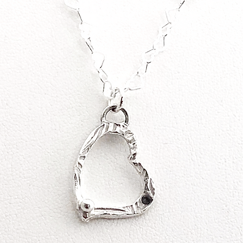Heart Pendant with Heart Chain