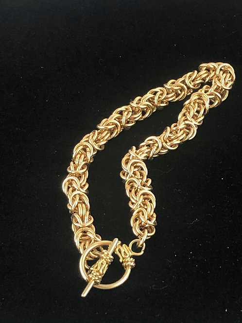 14k Gold Filled Byzantine Bracelet