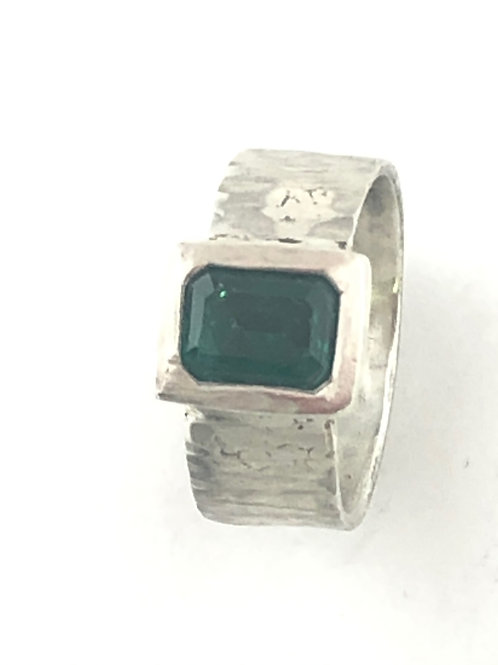 Radiant Emerald Nano Ring