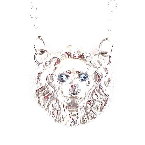Blue-eyed Lion Pendant