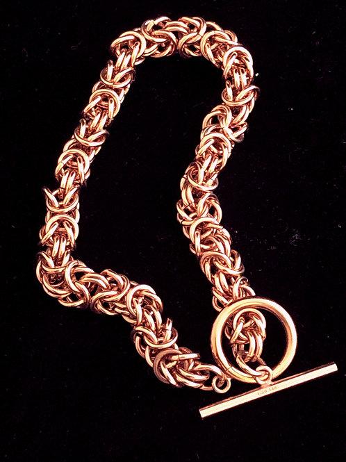 Rose Gold Byzantine Bracelet