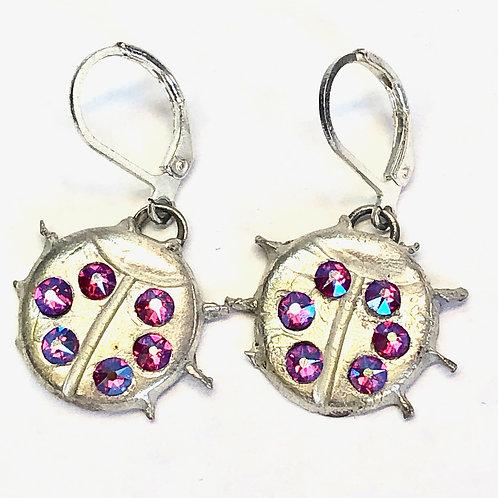 Ladybug Light Earrings