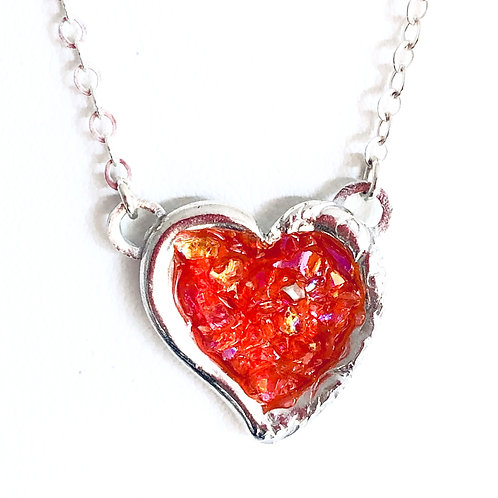 Young At Heart Dazzling Red Heart Pendant