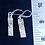 Thumbnail: Sterling rectangular earrings with celadon green Swarovski