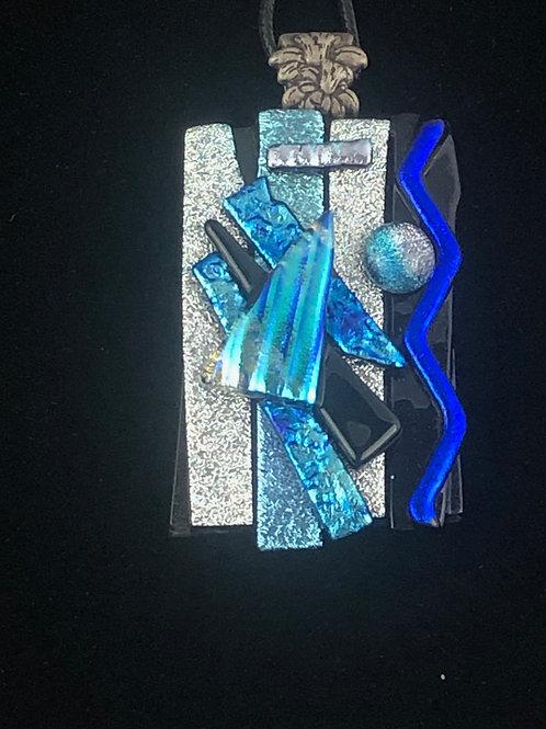Blue Silver Pendant