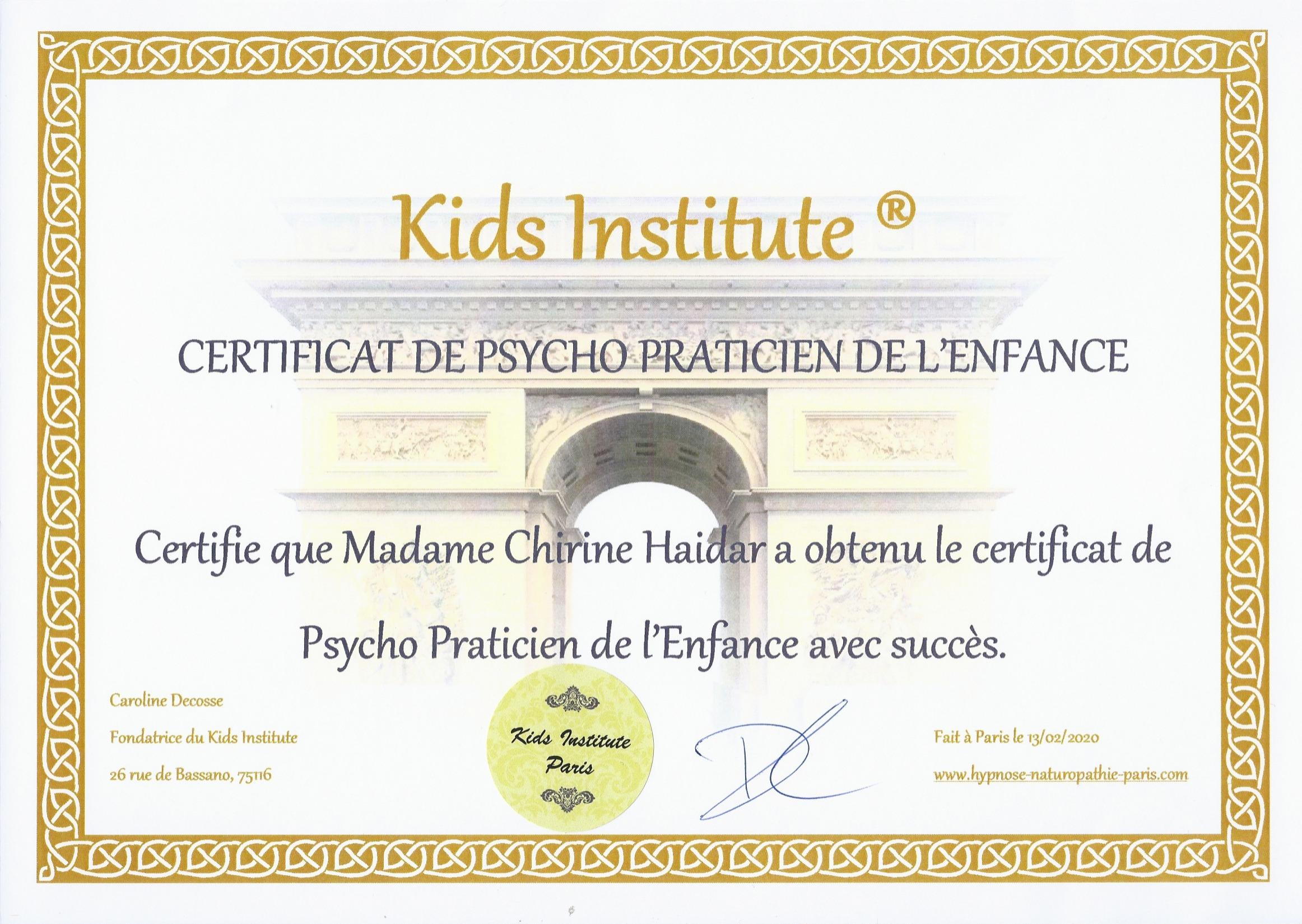 Psychopraticien de l'Enfance