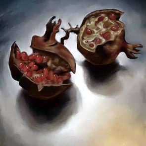 'Pomegranates (bird eaten)'