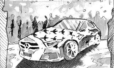 Mercedes Benz / David Jones NGV Gala Board (detail)