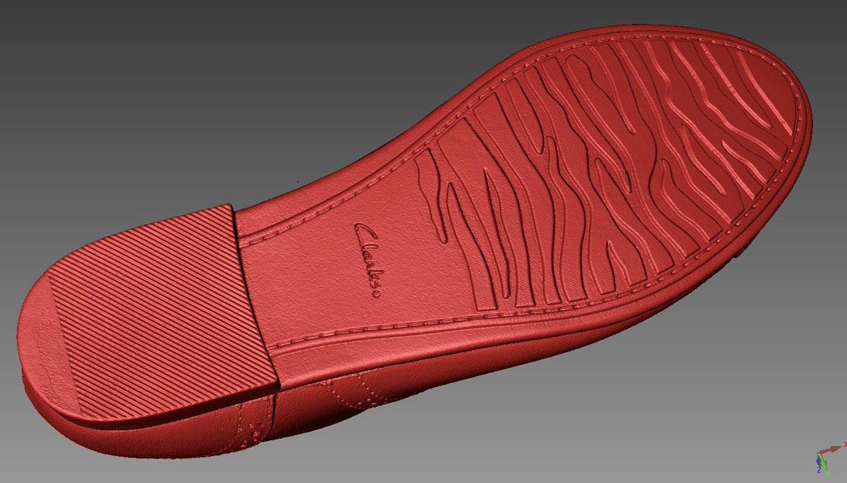 clark shoe 3D scanning