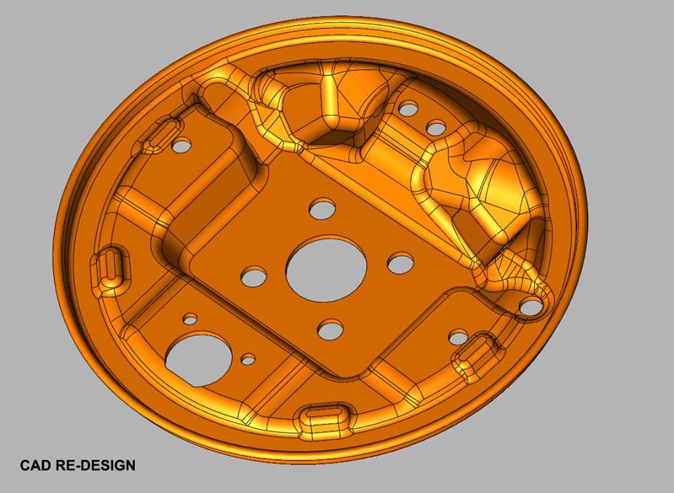 Deep drawn part CAD reverse