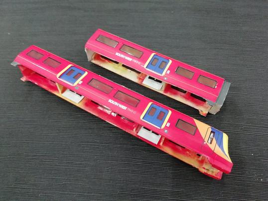 Wagon train scale model