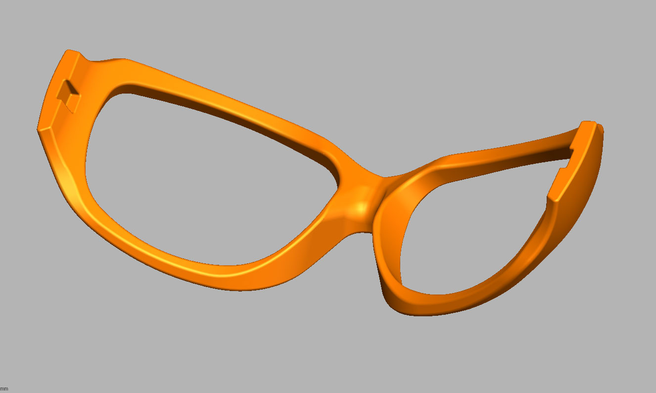 Sunglasses frame CAD redesign