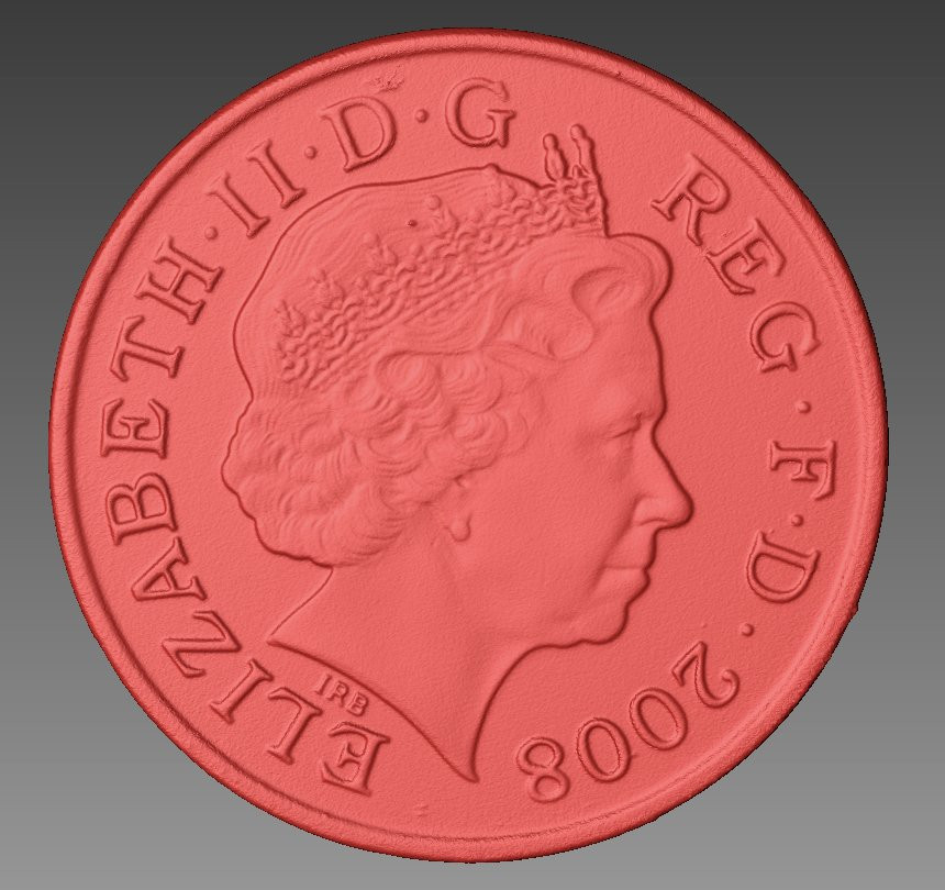 two pence 3d scanning, back