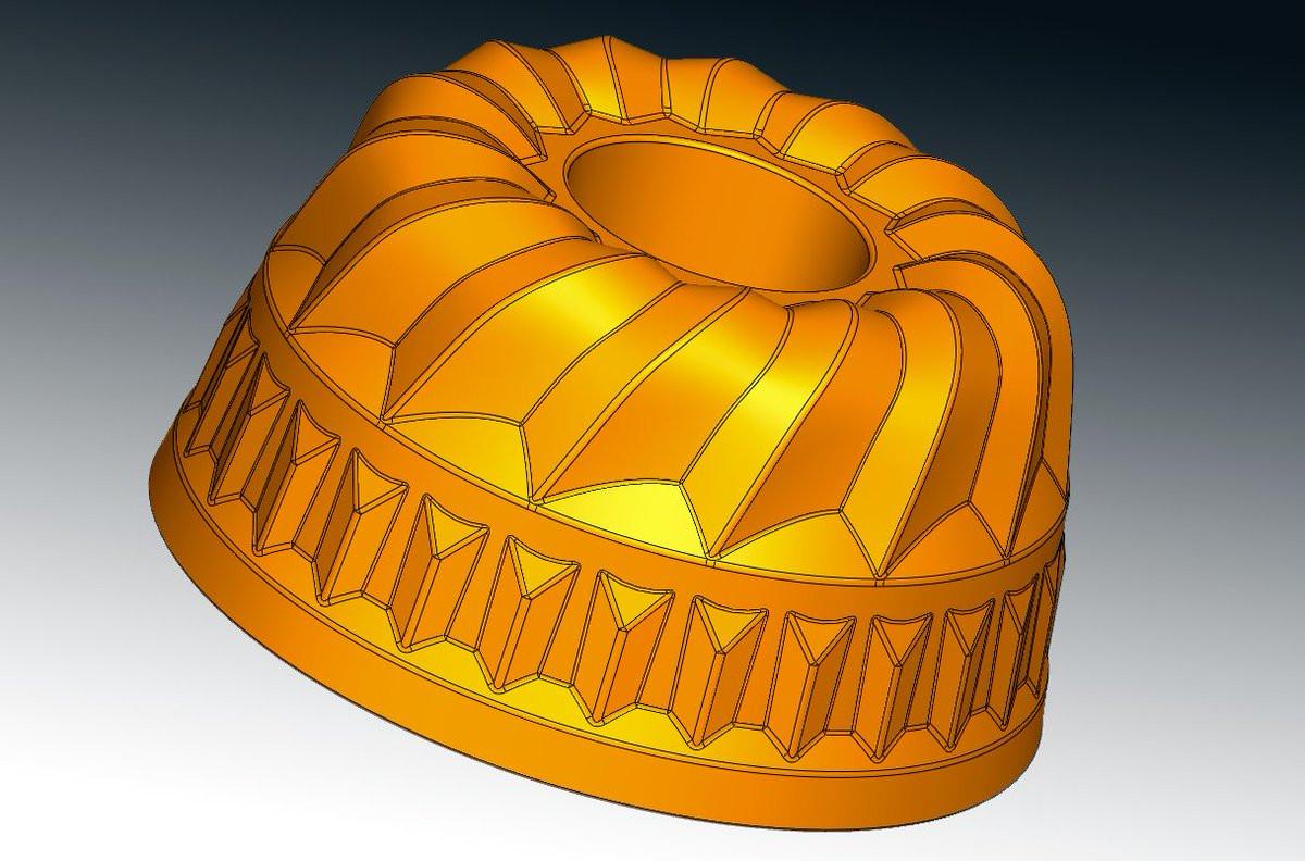 Cake mold reverse engineering