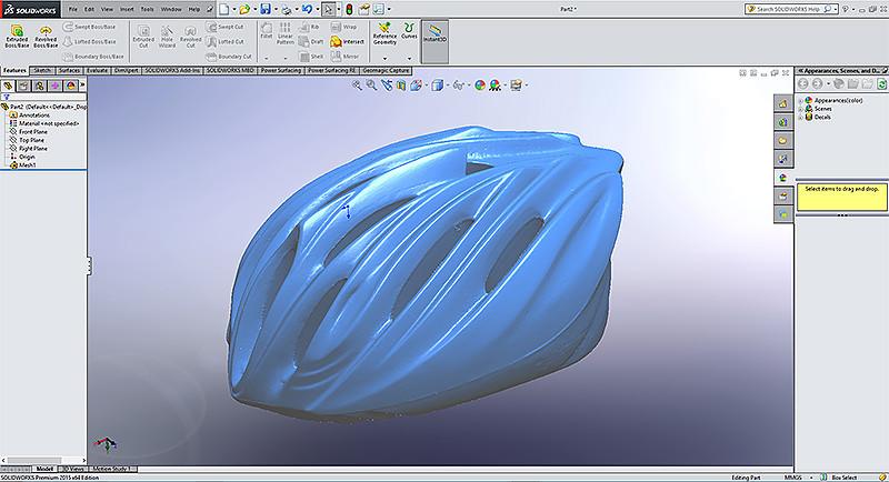 Bike helmet | STL imported in SolidWorks