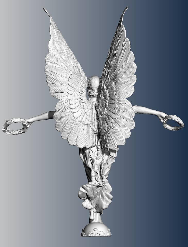 Silver statue 3d scan
