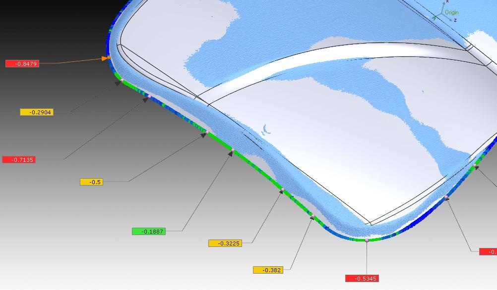 Boundary deviation - Inspection