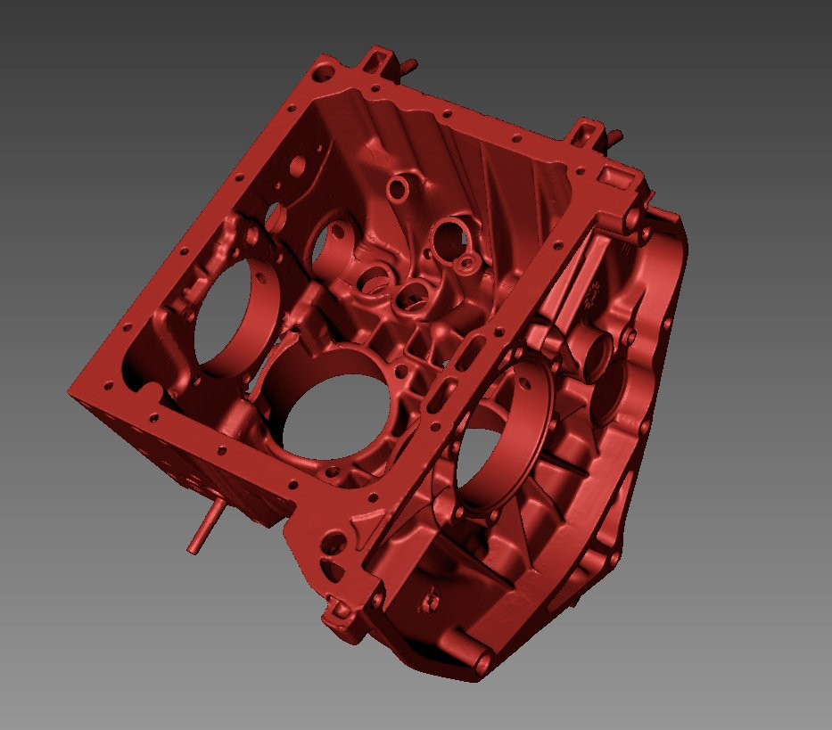 Fiat 500 Giannini engine 3D scan