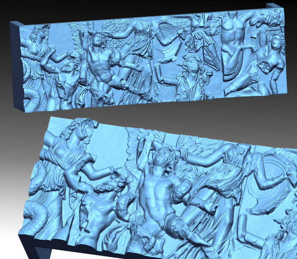 Bas-relief. High quality 3D scan