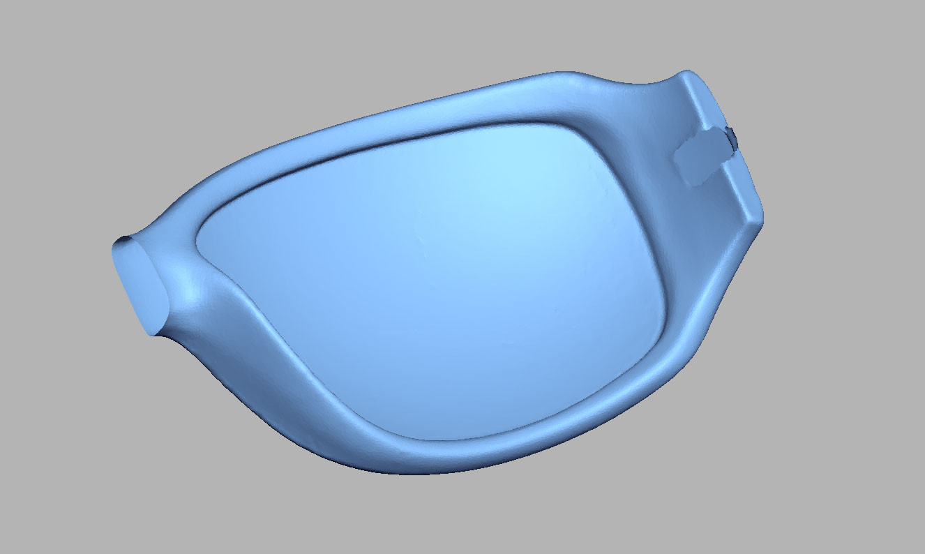Sunglasses frame 3D scan