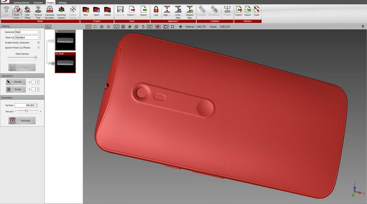 mobile phone 3d scan