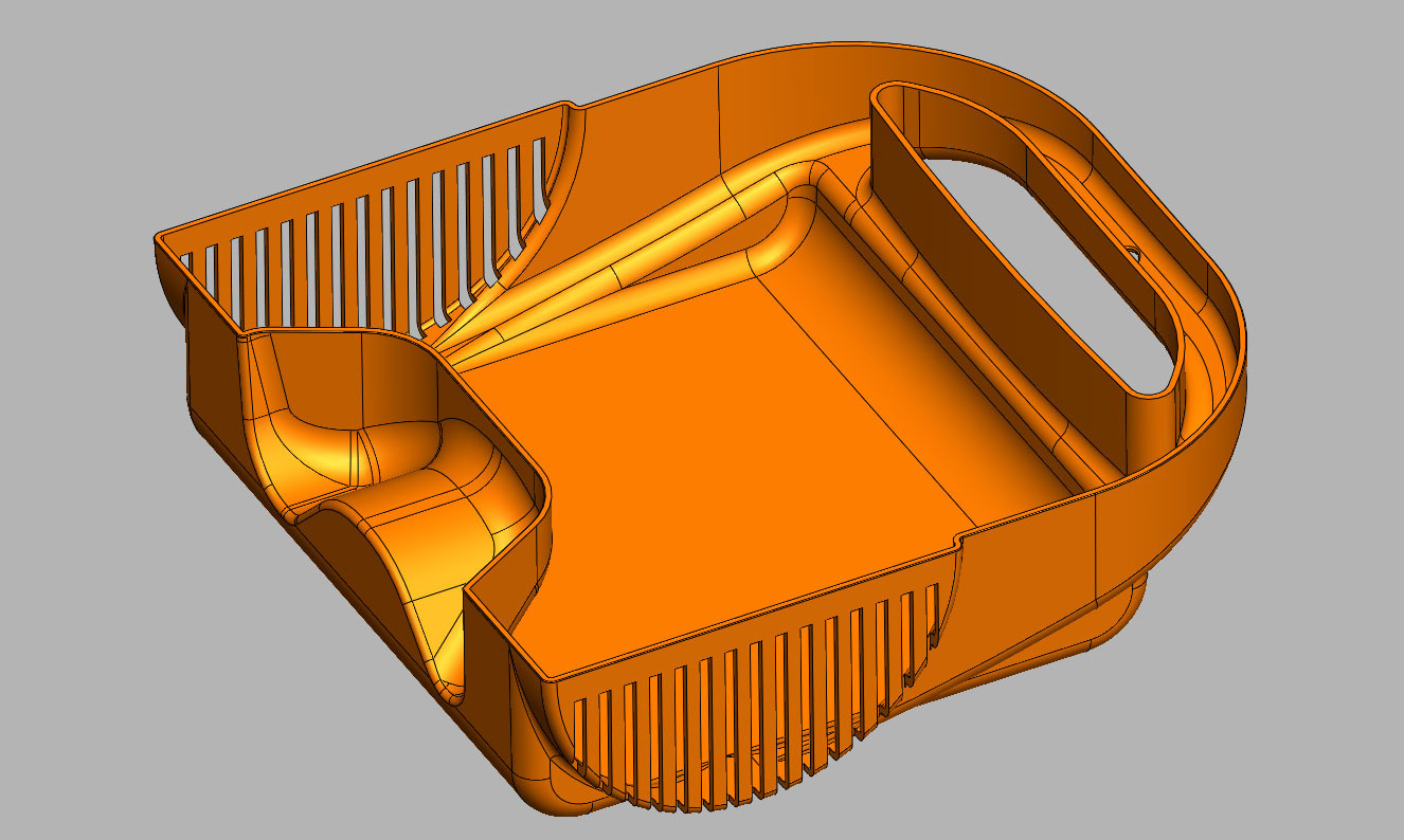 Medical device CAD reverse section