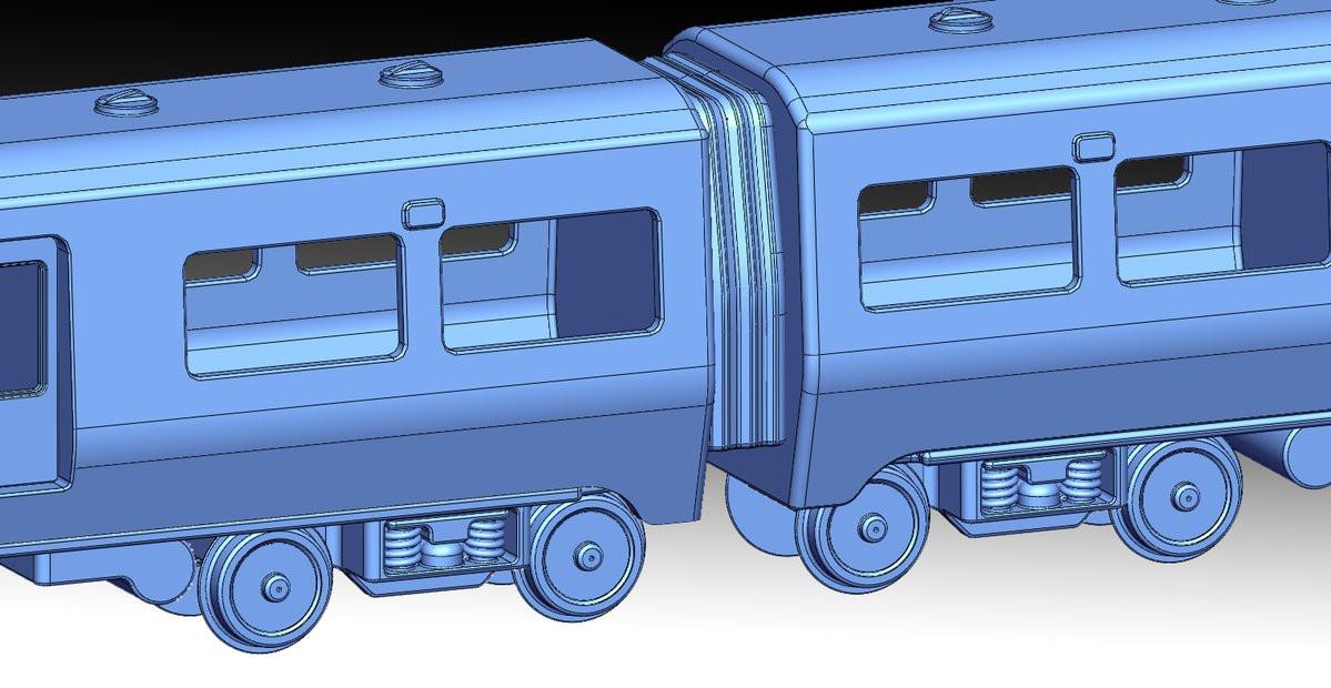 Wagon train scale model reverse