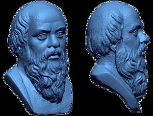 Greek Philosopher Socrates Bust| STL file scanned using a fringe projection 3D scanner