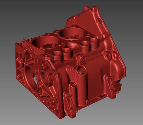 Fiat engine 3d scan