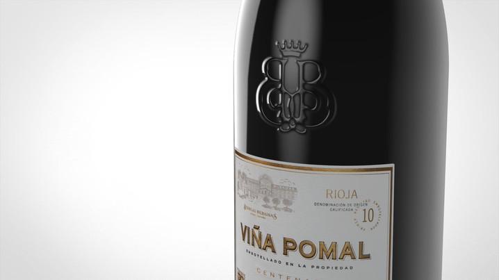 Wine bottle rendering 2