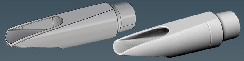 Mouthpiece CAD re-design from scan data