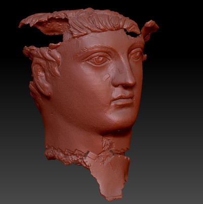 nike sculpture 3D scan
