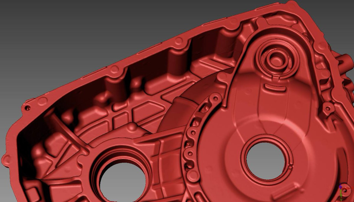 crankcase 3d scan close up