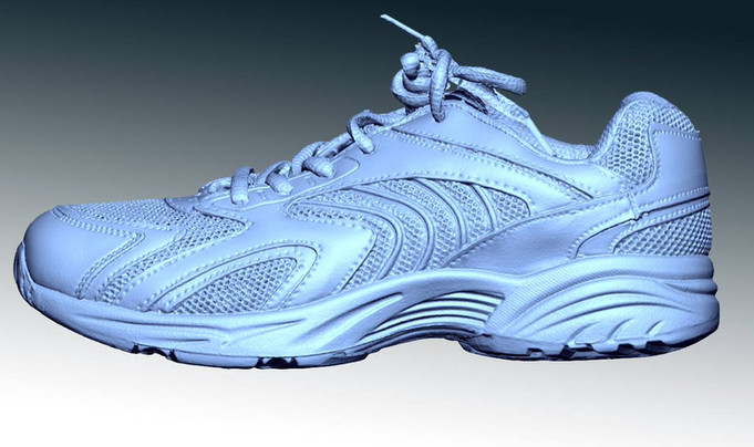 trainer 3d scan side view