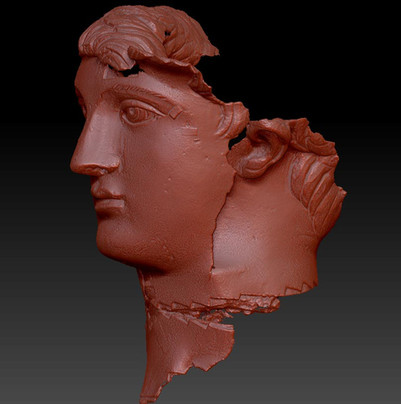Roman statue close up