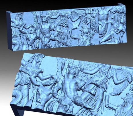 High relief 3D scanning