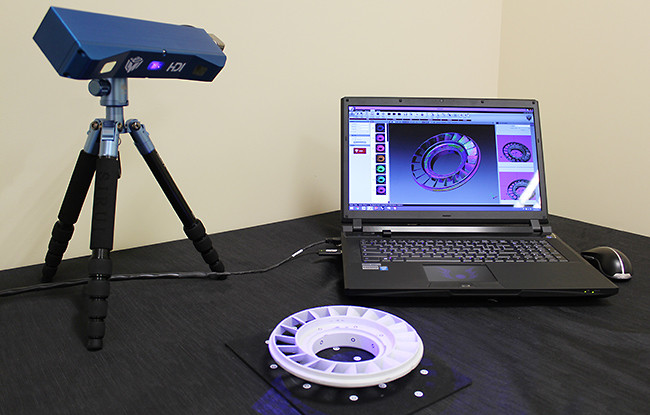 Compact blue led 3D scanner