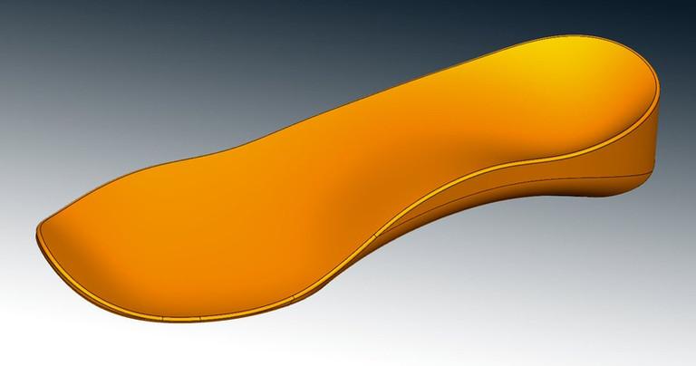shoe insole CAD reverse